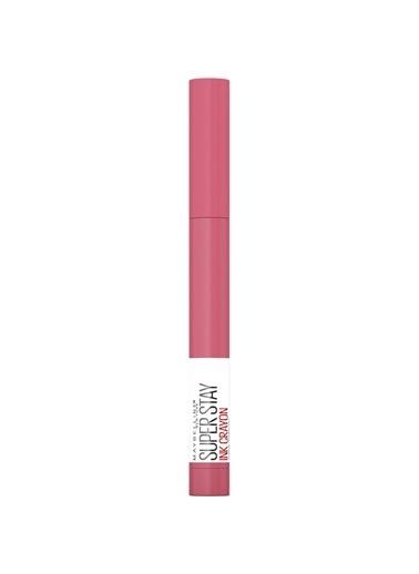 Maybelline New York Super Stay Ink Crayon Kalem Mat Ruj - 90 Keep it fun Pembe